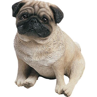 Original Size Pug Pup Sculpture in Fawn