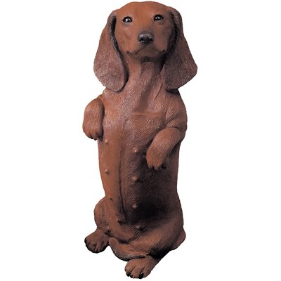 Sandicast Original Size Dachshund Sculpture in Red