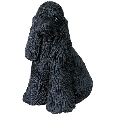 Sandicast Small Size Cocker Spaniel Sculpture in Black