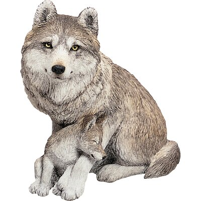 Forever Friends Wolf and Pup Sculpture
