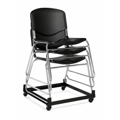 Offices To Go Stacking Chair with Black Plastic Seat and Back
