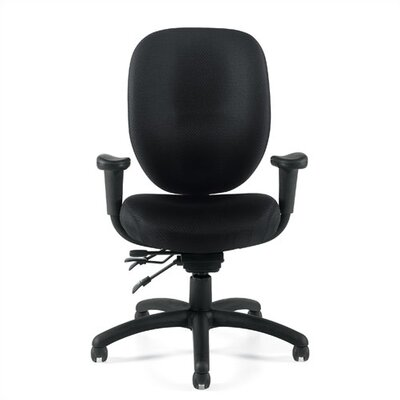 Offices To Go Mid-Back Multifunction Office Chair with Arms