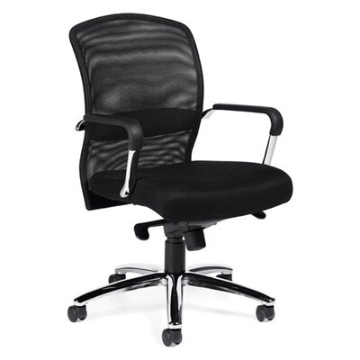 Offices To Go High-Back Mesh Tilter Executive Chair with Fixed Height Molded Arms