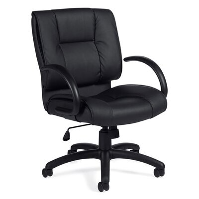 Offices To Go Mid-Back Luxhide Executive Tilter Office Chair