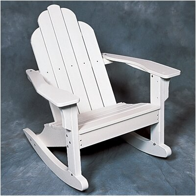 Seaside Casual Classic Adirondack Rocking Chair - EnviroWood