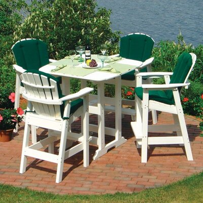 Seaside Casual Portsmouth 5 Piece Bar Height Dining Set