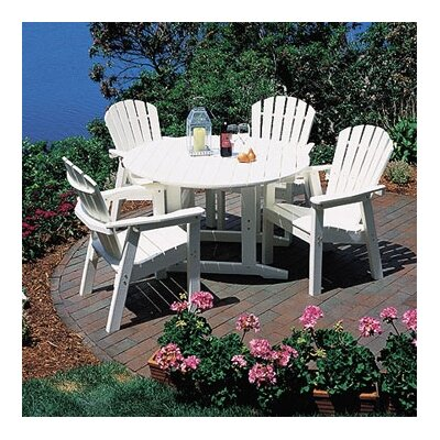 Seaside Casual Shell Back 5 Piece Dining Set