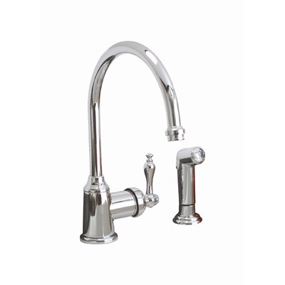 Wellington Single Handle Single Hole Kitchen Faucet with Matching Side Spray