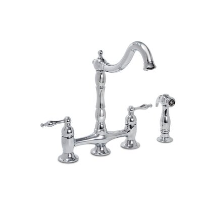 Premier Faucet Charlestown Two Handle Widespread Bridge Faucet with Matching Spray