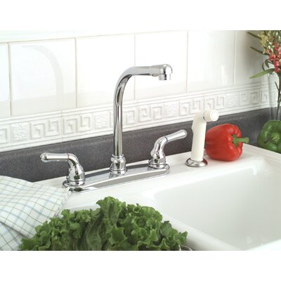 Premier Faucet Sanibel Two Handle Centerset Kitchen Faucet with Spray