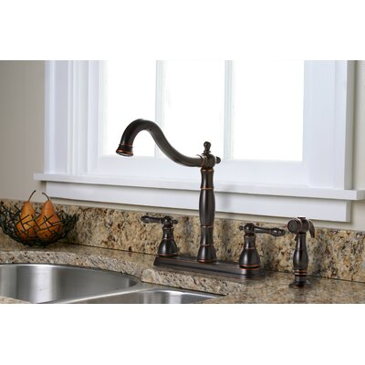 Premier Faucet Charlestown Two Handle Kitchen Faucet with Matching Side Spray