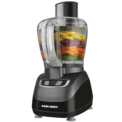 8 Cup Food Processor in Black