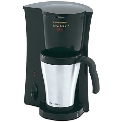 Black & Decker Brew 'N Go Deluxe Coffee Maker with Plastic Mug