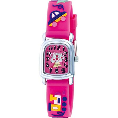 Juniors Tree Design Watch in Hot Pink
