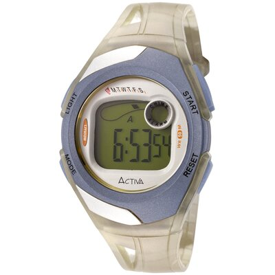 "Activa Watches Women""s Digital Multi-Function Watch in Light Yellow Transparent"
