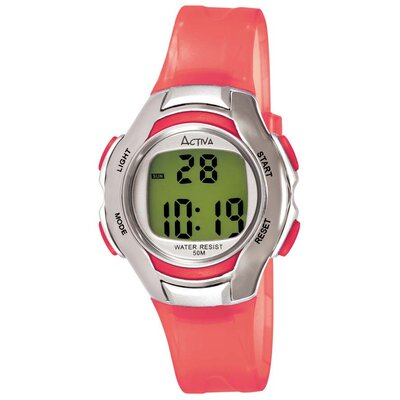 Women's Digital Multi-Function Watch in Red Transparent