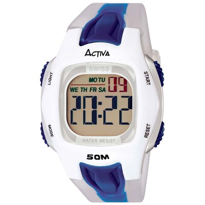 Men's Digital Multi-Function Watch in Blue / White