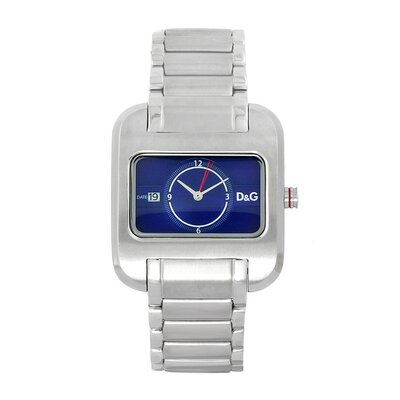 Men's Over Watch with Stainless Steel Case and Bracelet