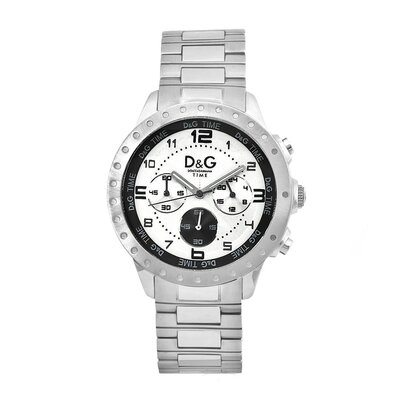 Dolce & Gabbana Men's Classic Watch with Silver Chronograph Dial