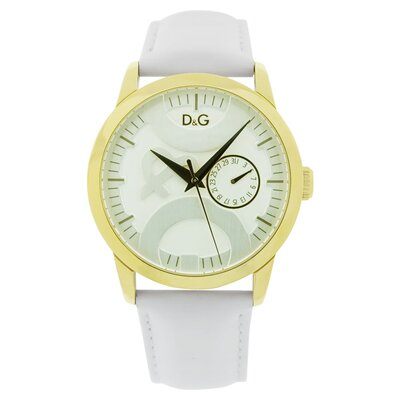 Dolce & Gabbana Men's Twin Tip Watch with White Dial