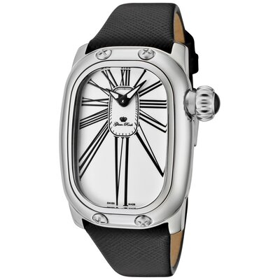 Women's Monogram Enamel Genuine Saffiano Watch