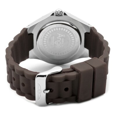 Invicta Women's Angel Watch in White Dial Brown Silicon