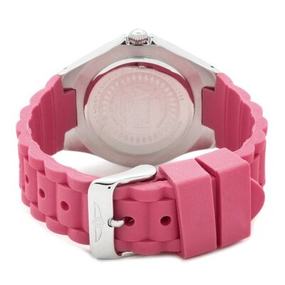 Invicta Women's Angel Watch in White Dial Pink Silicon