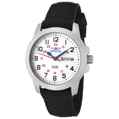 Women's Specialty White Dial Watch in Black Nylon