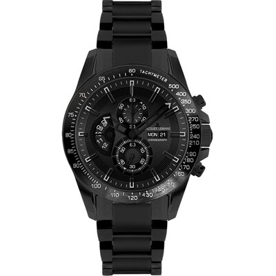 Men's Liverpool Day / Date Chronograph Stainless Steel IP-Black Watch in Black / Grey