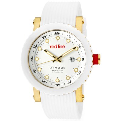 Red Line Men's Compressor Silicone Round Watch