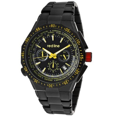 Red Line Men's Travel Chrono Round Watch