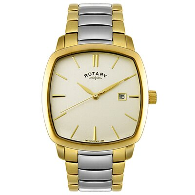 Rotary Watches Men's Two Tone Stainless Steel Watch