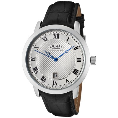 Men's Luminous Watch with Silver Textured Dial