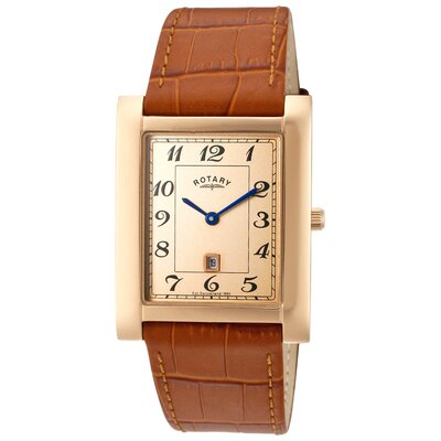 Men's Rose Rectangle Watch