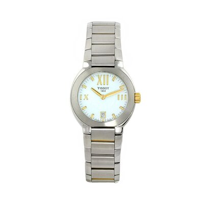 Tissot Women's T-Classic Watch with Two-Tone Stainless Steel Case