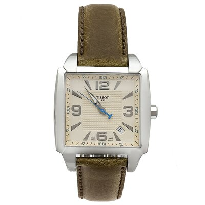 Tissot Quadrato Tissot Men's Watch with Beige Dial