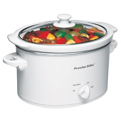 Proctor-Silex 3 Quart Slow Cooker in White