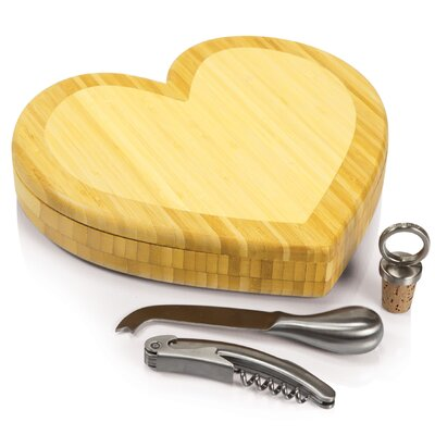 Picnic Time Heart Cutting Board