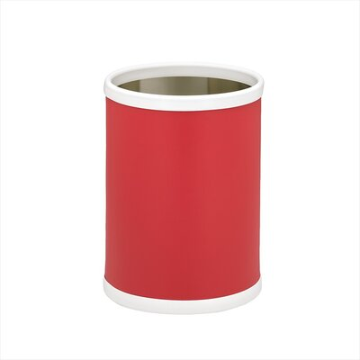 "Kraftware Bartender's Choice Fun Colors 10"" Waste Basket in Red"