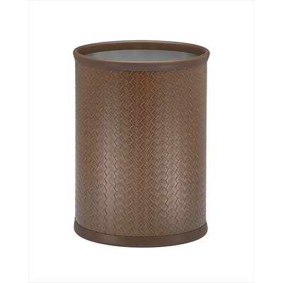 Kraftware San Remo Pinecone Design Waste Basket in Chrome