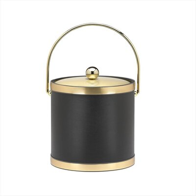 Sophisticates Ice Bucket with Metal Cover in Black