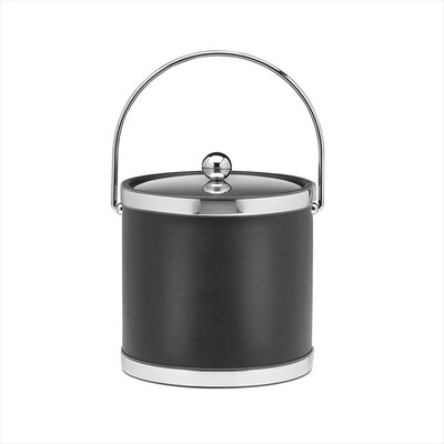 Sophisticates 3 Qt Ice Bucket with Metal Cover in Black