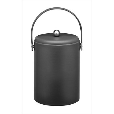 Soho 5 Qt Leatherette Ice Bucket in Black