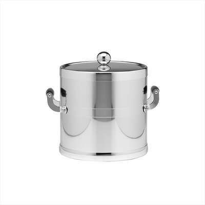 Americano 3 Qt Ice Bucket with Metal Cover in Chrome