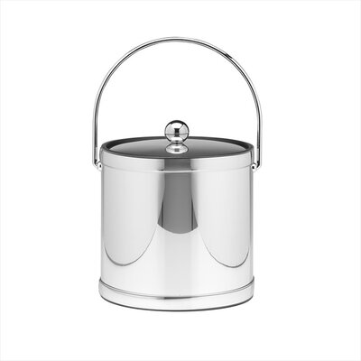 Kraftware Mylar 3 Qt Ice Bucket with Metal Cover in Polished Chrome