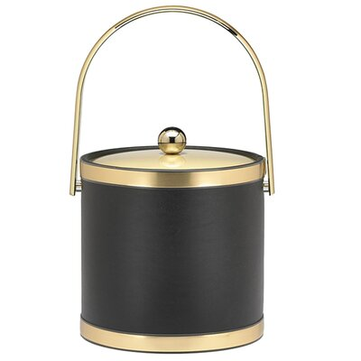 Sophisticates Ice Bucket with Track Handle in Black