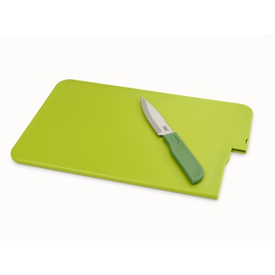 Slice and Store Cutting Board with Knife Set