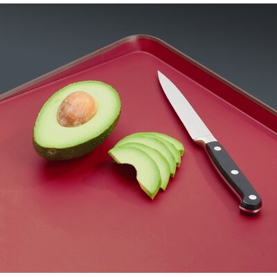 Joseph Joseph Large Cut and Carve Chopping Board in Red