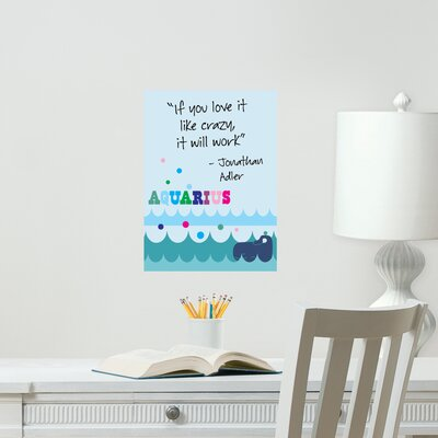 Jonathan Adler Dry Erase Aquarius Board Wall Decal