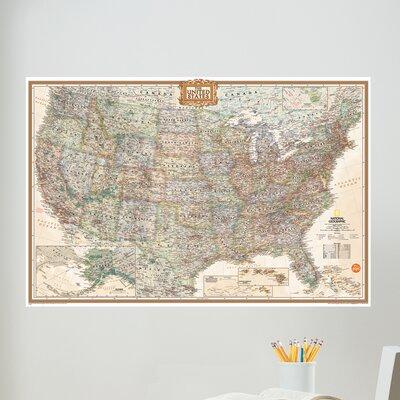 WallPops! Art Kit National Geographic USA Map Wall Mural